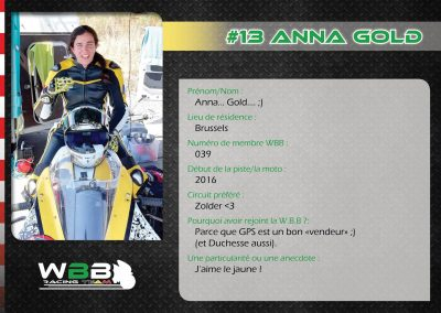 #13 ANNA GOLD